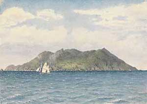 Painting of Pitcairn Island